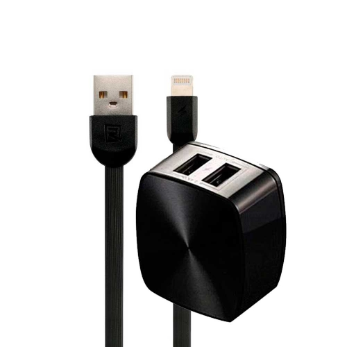 Адаптер сетевой REMAX Lightning cable RP-U215 |2USB, 2.4A| 14793