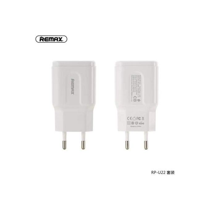 Адаптер сетевой REMAX Type-C cable  RP-U22 |2USB, 2.4A| 14798