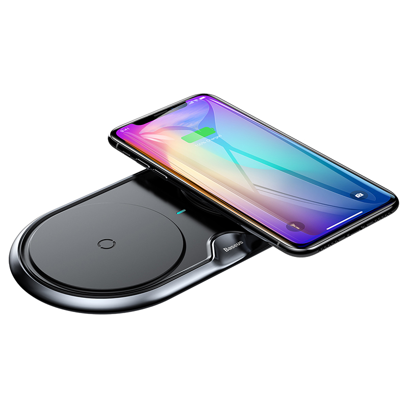 Зарядка QI BASEUS Dual Wireless Charger |10W, QC| (plastic type) 14807