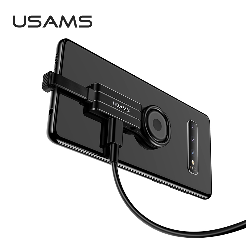 Переходник USAMS Type-C to 3.5mm+Type-C Ring Holder Adapter US-SJ359 AU11 |2A| 16365
