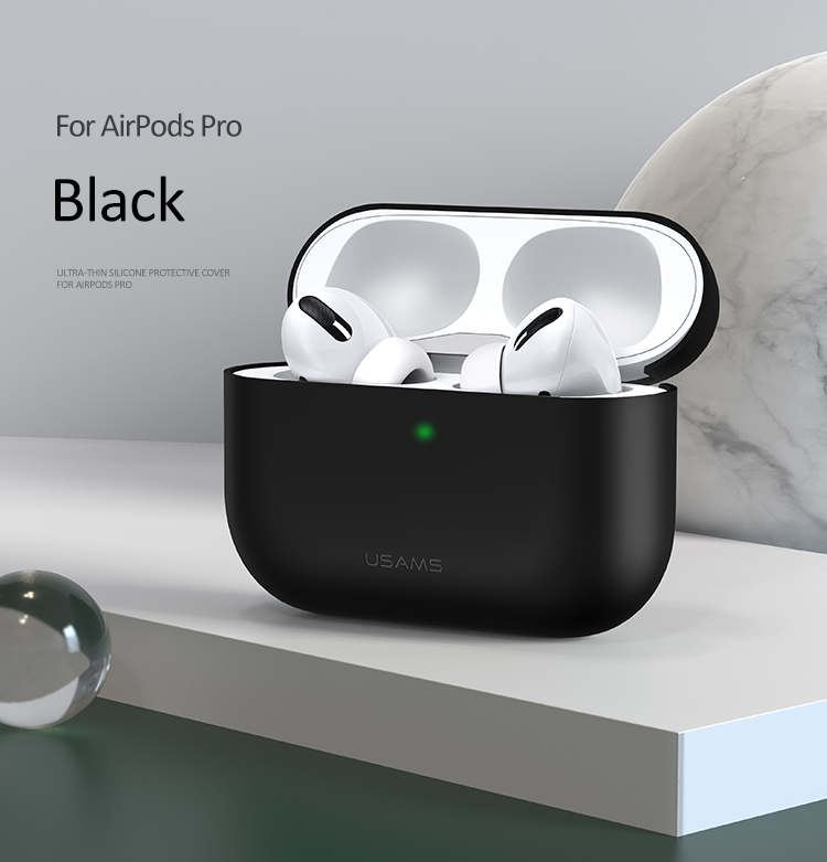 Чехол USAMS для Apple AirPods Pro Ultra-thin Silicone Protective Cover US-BH569 20540