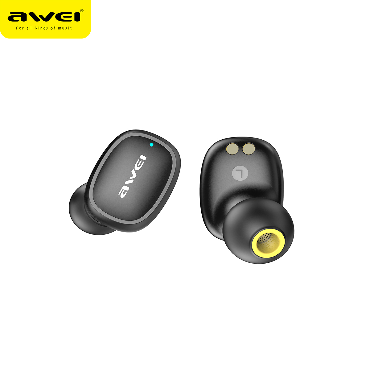 Наушники Bluetooth Awei TWS Sports T13 |BT5.0, 300mAh/50mAh, 4Hours, IPX4| 11961